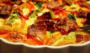 Broccolitærte med bacon opskrift