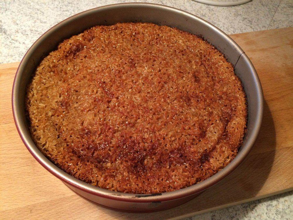 Drømmekage fra Brovst: En klassisk kage med kokostopping, der angiveligt skulle stamme fra Brovst i Nordjylland. Her i en lækker version med økologisk citronskal.