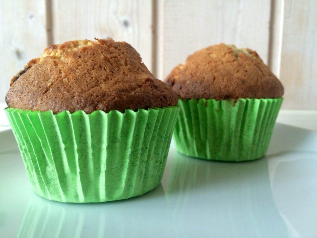 Lækre muffins med banan og chokolade. Foto: Guffeliguf.dk.