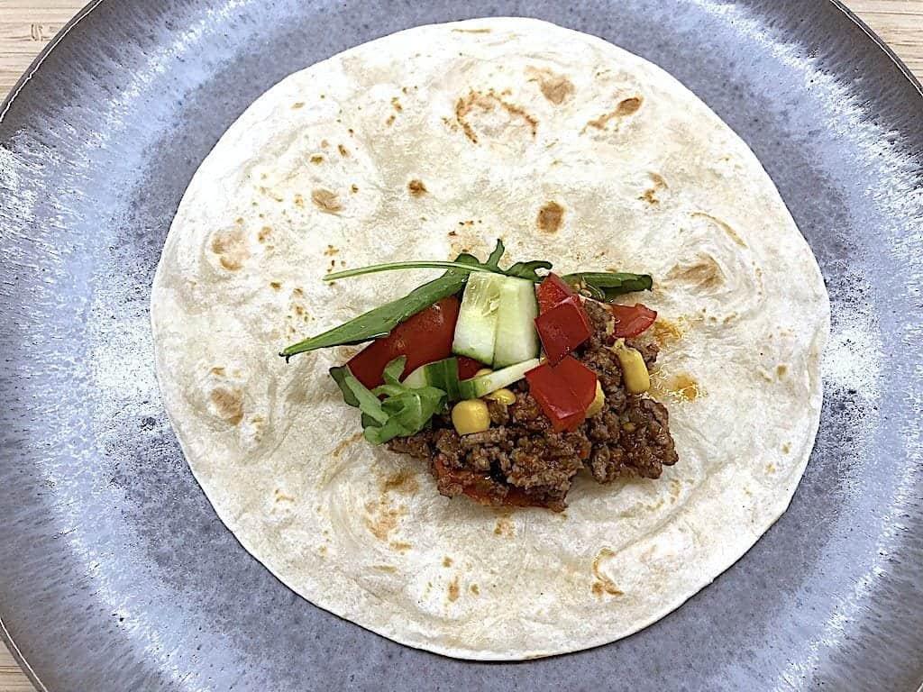 billede med foldning af tortilla