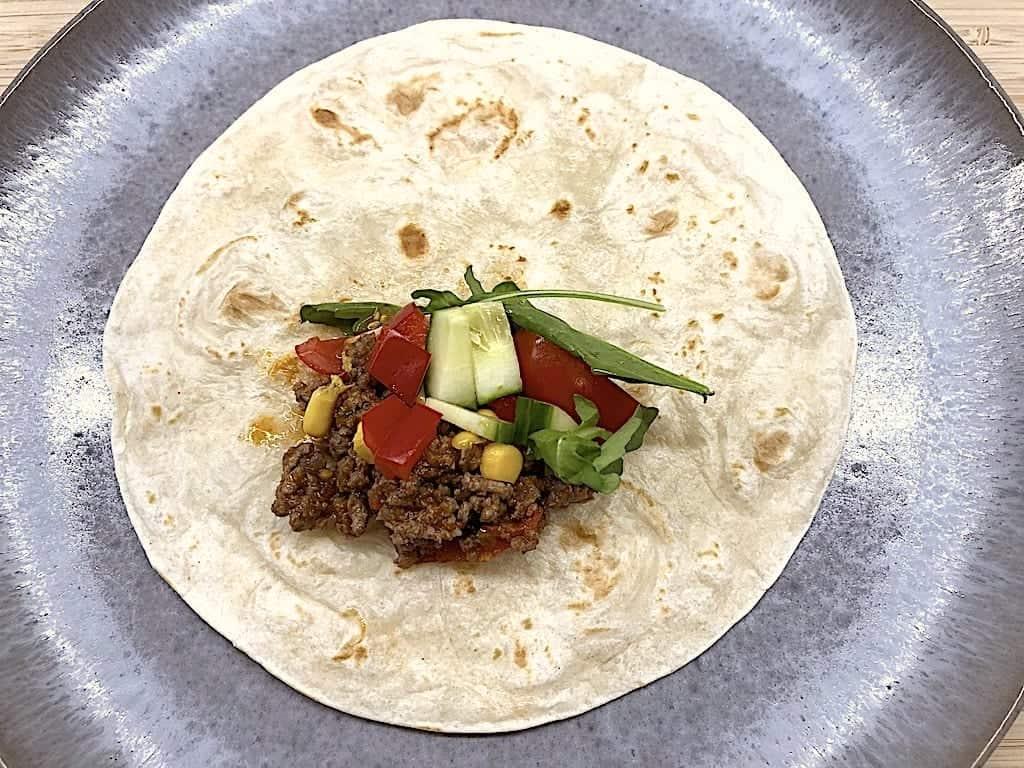 Fyld til tortilla og burritos - det mexicanske køkken