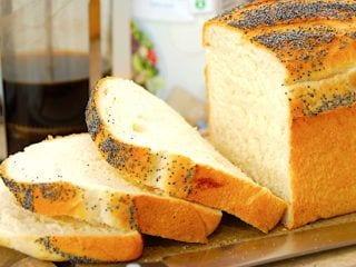 billede med sødmælks franskbrød franskbrød i form