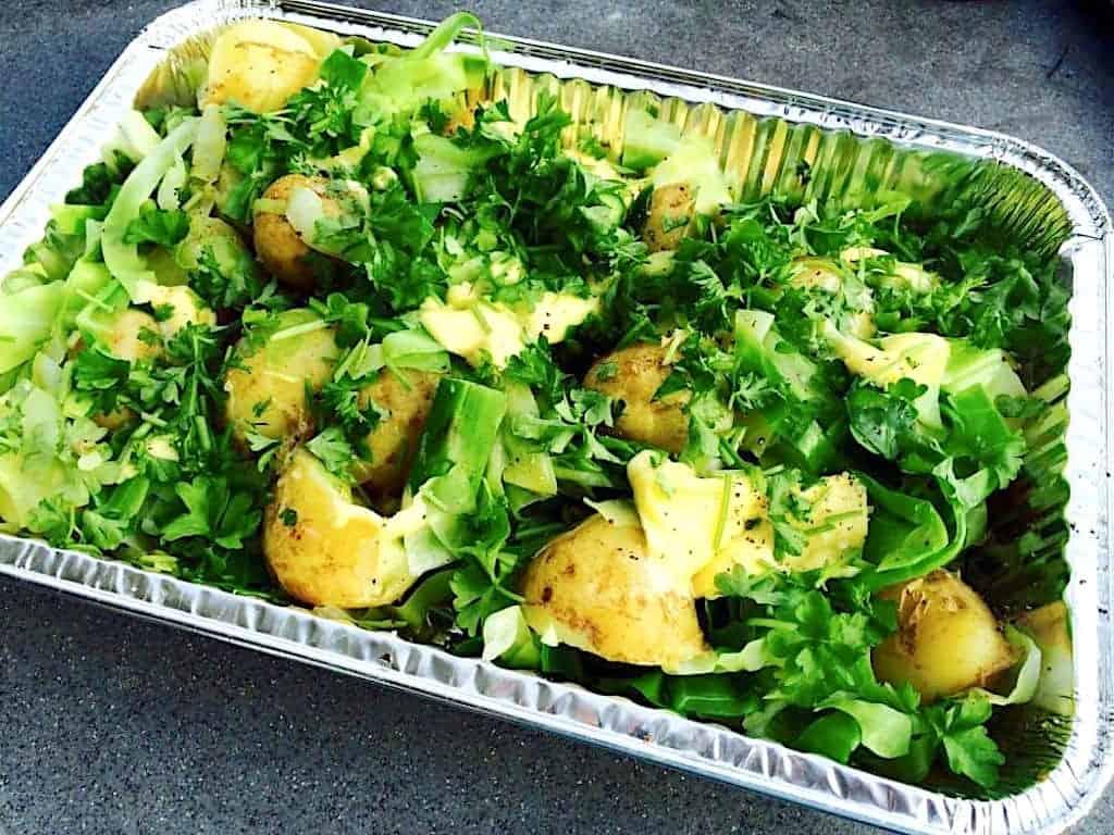 Kartofler med spidskål og asparges på ca. 30 minutter