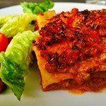 Lækker hjemmelavet lasagne med tilsvarende hjemmelavede pastaplader. Foto: Guffeliguf.dk.