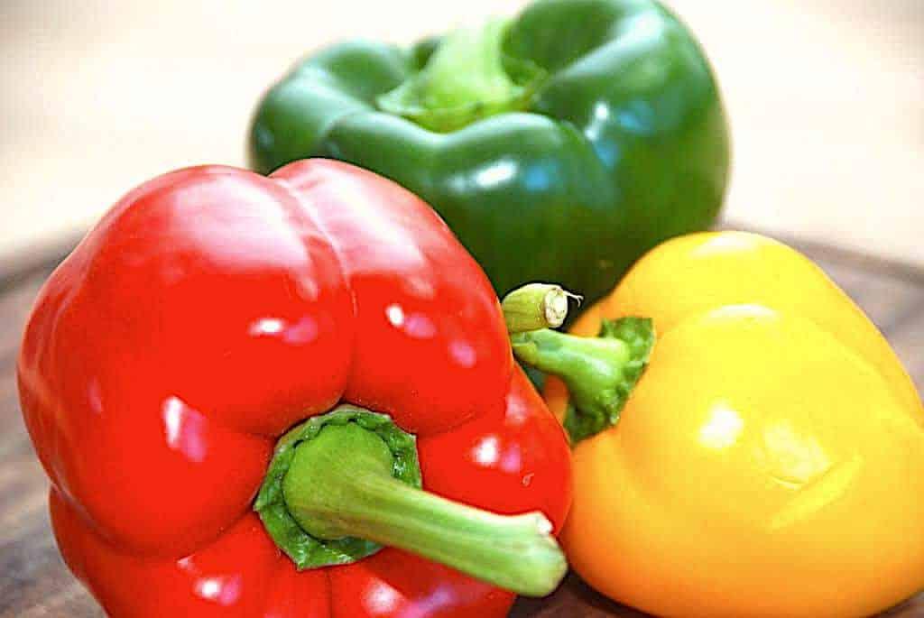 Grillede peberfrugter - perfekte til en god bøf