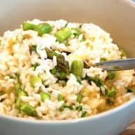Cremet risotto med asparges