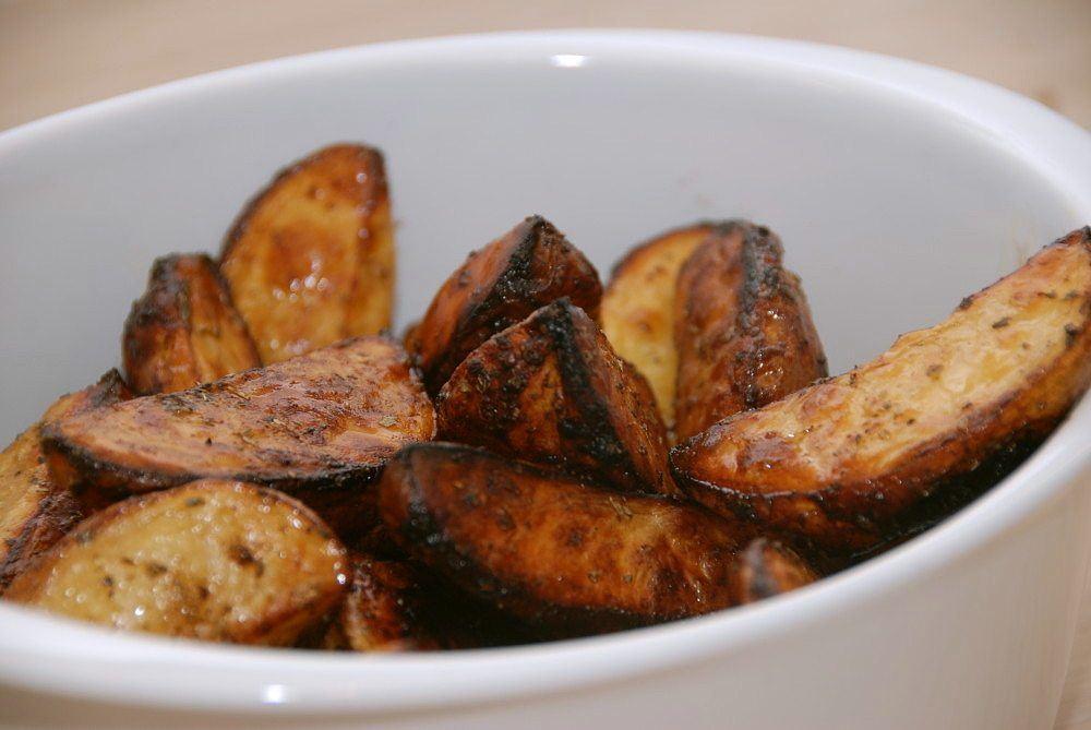 Ovnbagte kartofler med balsamico og oregano