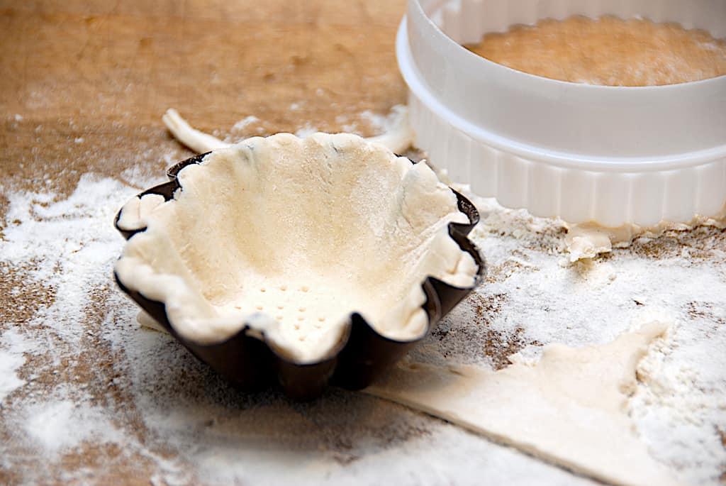 Hjemmelavede tarteletter af butterdej (nemme at bage)