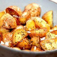 billede med brasede kartofler