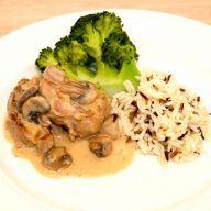 billederesultat for mørbrad med champignon a la creme