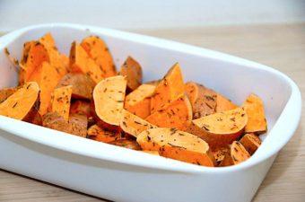 ovnbagte søde kartofler