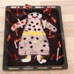 Kagemand af chokoladekage, der bages i en bradepande. Lækker kagemand, der er nem at bage, og hvor der er rigelig kagemand til 24 personer. Foto: Guffeliguf.dk.