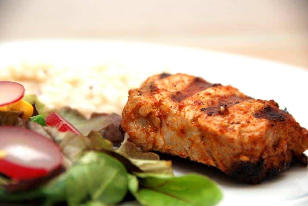 Grillede mørbradbøffer med chili og risotto
