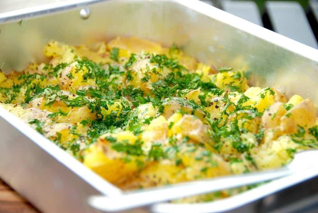Maste kartofler med persille (mashed potatoes)