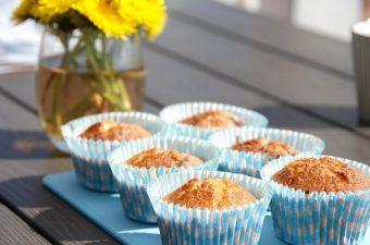 Muffins med rabarber – de bedste rabarbermuffins