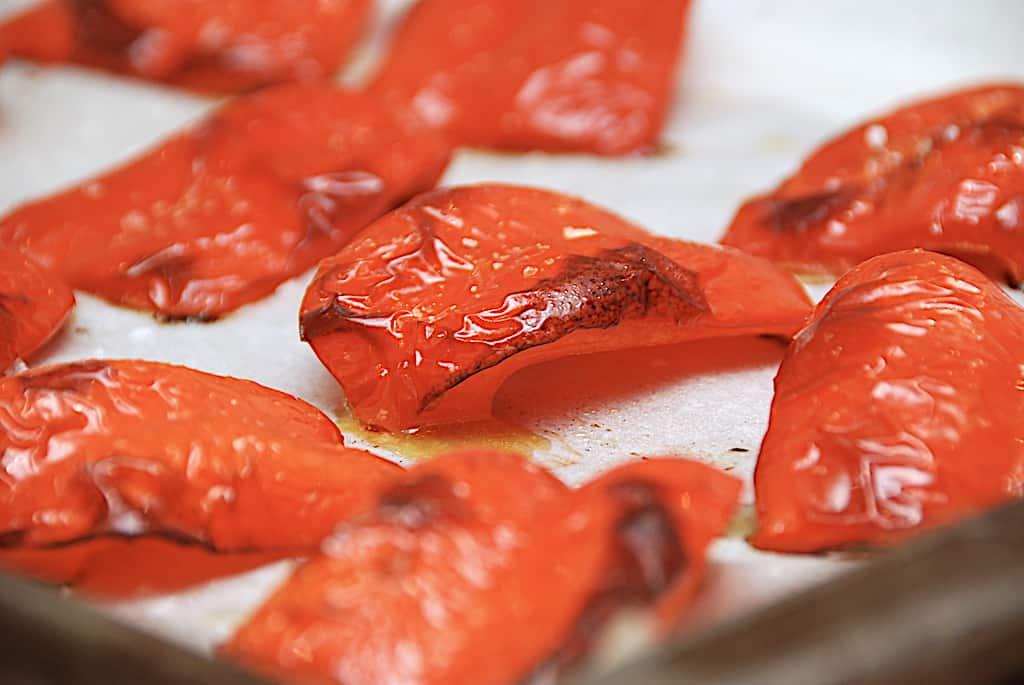 Bagte peberfrugter i ovn - nem opskrift