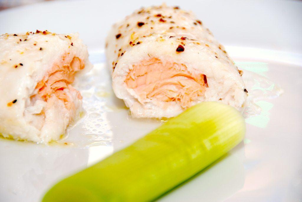 Dampet rødtunge om laks – fisk i ovn