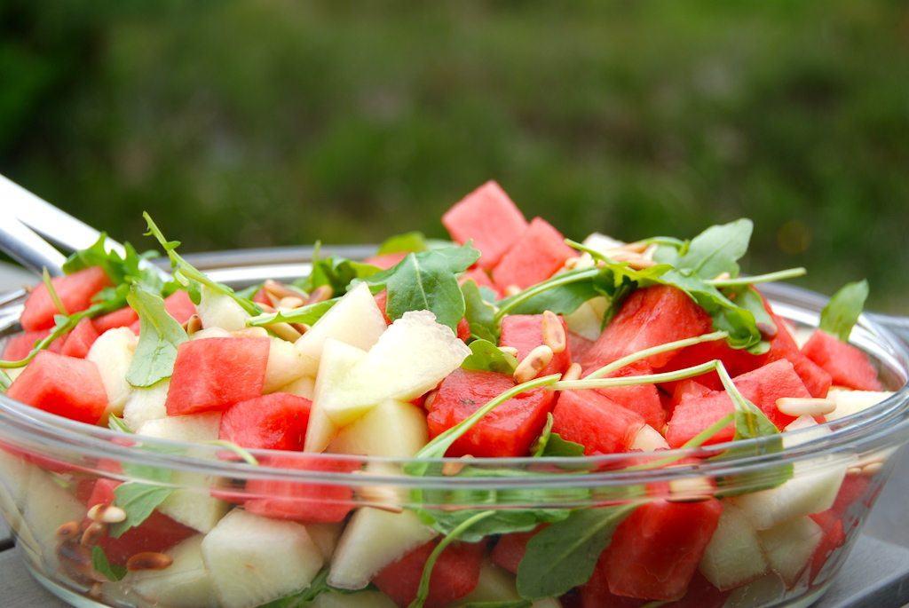 billede til salat med vandmelon