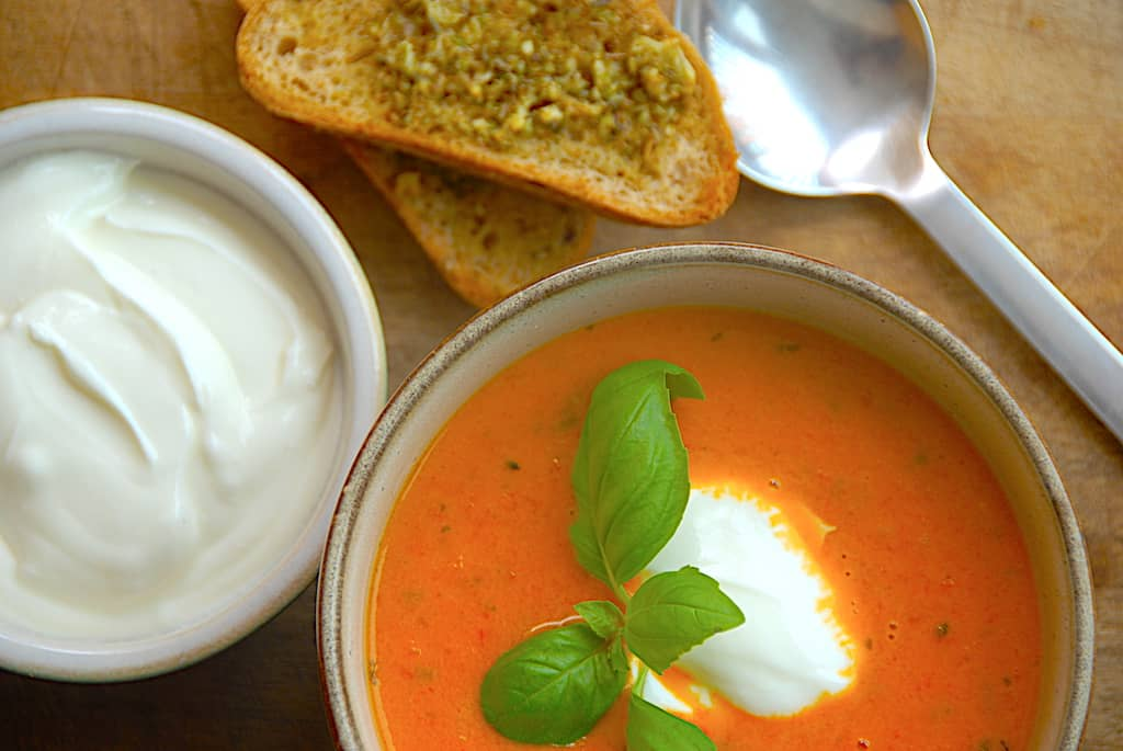 Tomatsuppe - italiensk opskrift på suppe med tomater