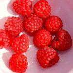 Hindbær souffle laves selvfølgelig af dejlige hindbær. Souffleen bages i en halv times tid, og serveres straks. Foto: Guffeliguf.dk.