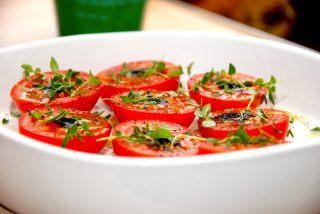 Ovnbagte tomater med timian (tomater i ovn)