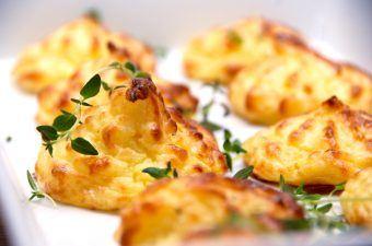 Bagt kartoffelmos der ikke flyder ud i ovnen