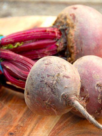 Bagte rødbeder med balsamico i ovn