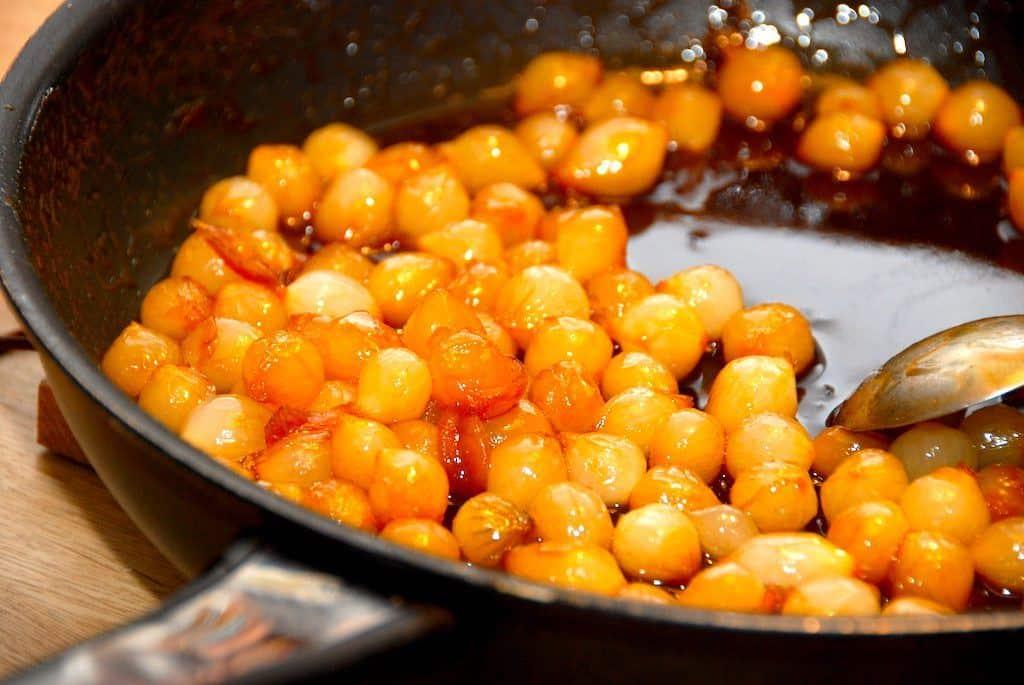 Glaserede perleløg på pande (nem opskrift)