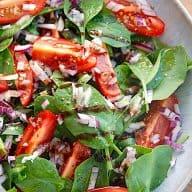 billede med spinatsalat