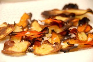 Hjemmelavede rodfrugtchips i ovn