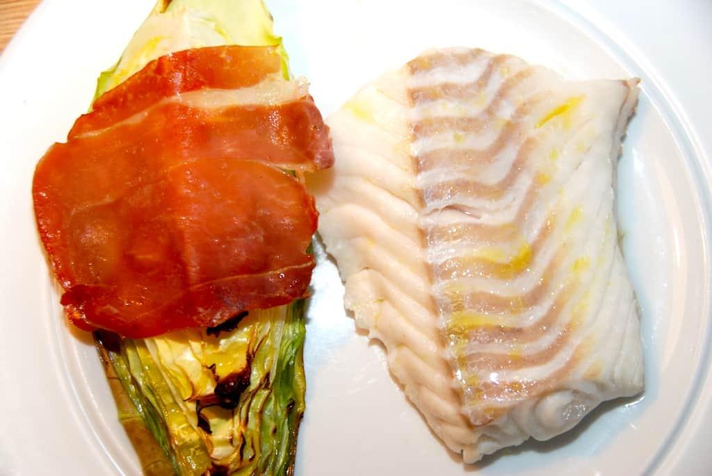 Ovnbagt torsk med spidskål