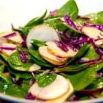 salat med jordskokker, æbler, spinat og spidskål