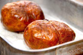 Bagekartofler: Bagte kartofler uden sølvpapir