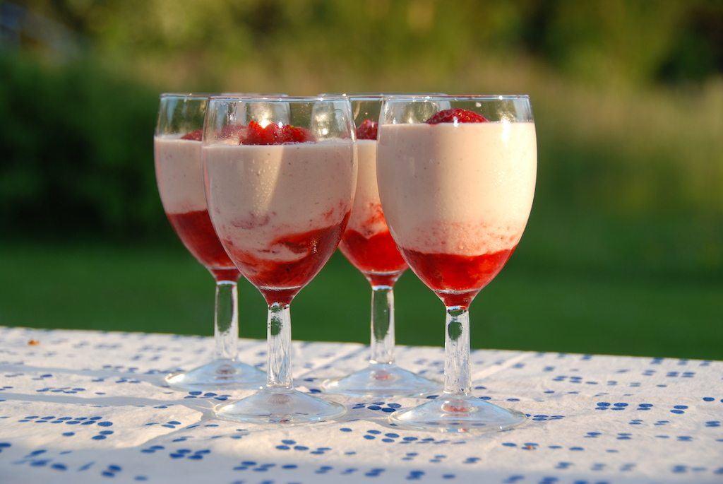 Jordbær mousse - den bedste uden husblas