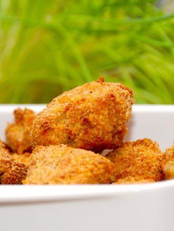 Hjemmelavede kyllingenuggets i ovn (sprøde nuggets)