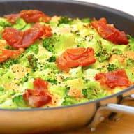 billede med omelet i ovn