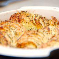 sprøde kartofler i fad
