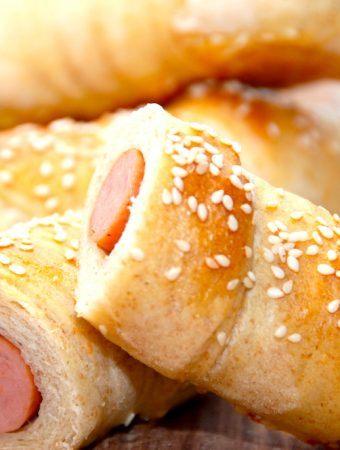 Pølsehorn – opskrift på nemme og bløde brød med pølser