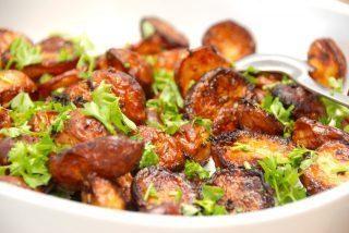 Hvidløgskartofler i ovn med timian