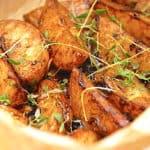 karamelliserede kartoffelbåde