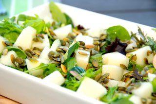 Melonsalat med ristede græskarkerner