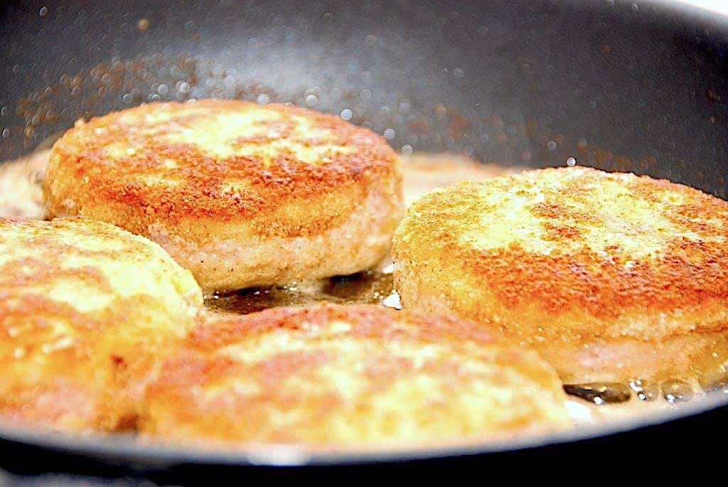 Krebinetter - stegt på pande eller i ovnen
