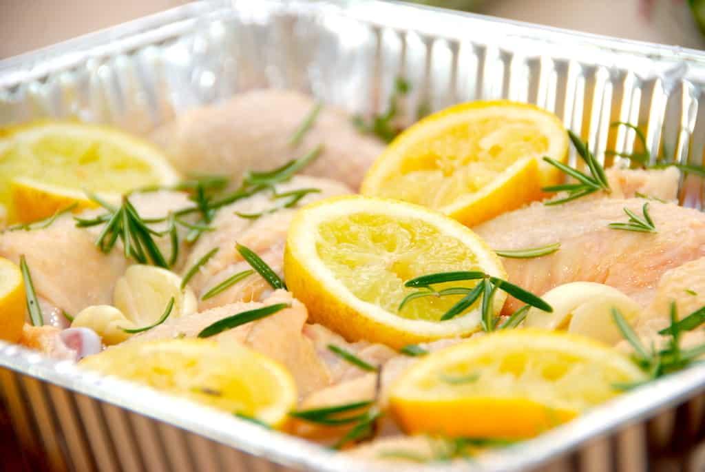 Citronkylling - kylling med citron og hvidløg opskrift