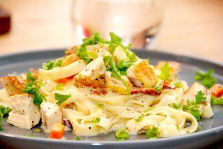 Pasta med madlavningsfløde opskrift
