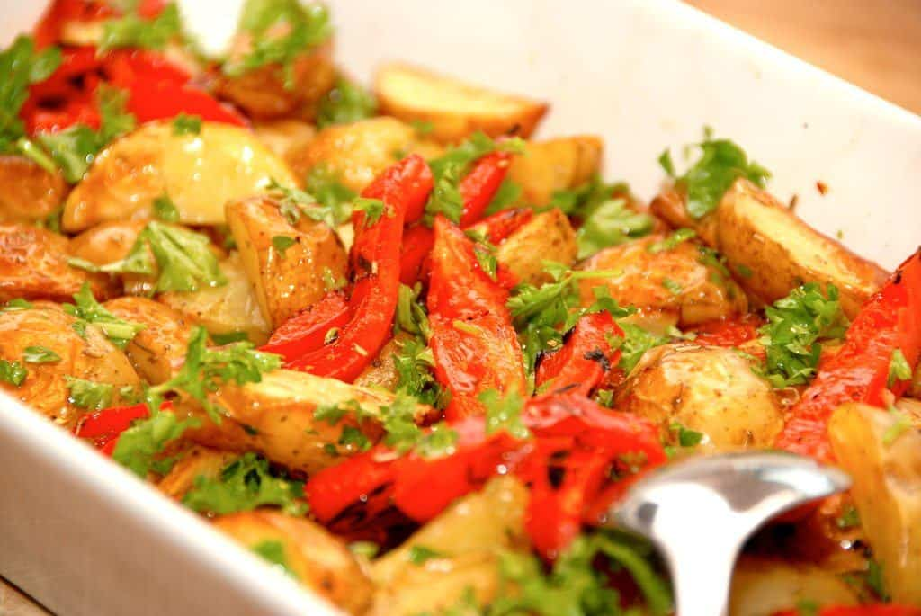Kartoffelroser - rose af tynde skiver kartofler - Madens Verden