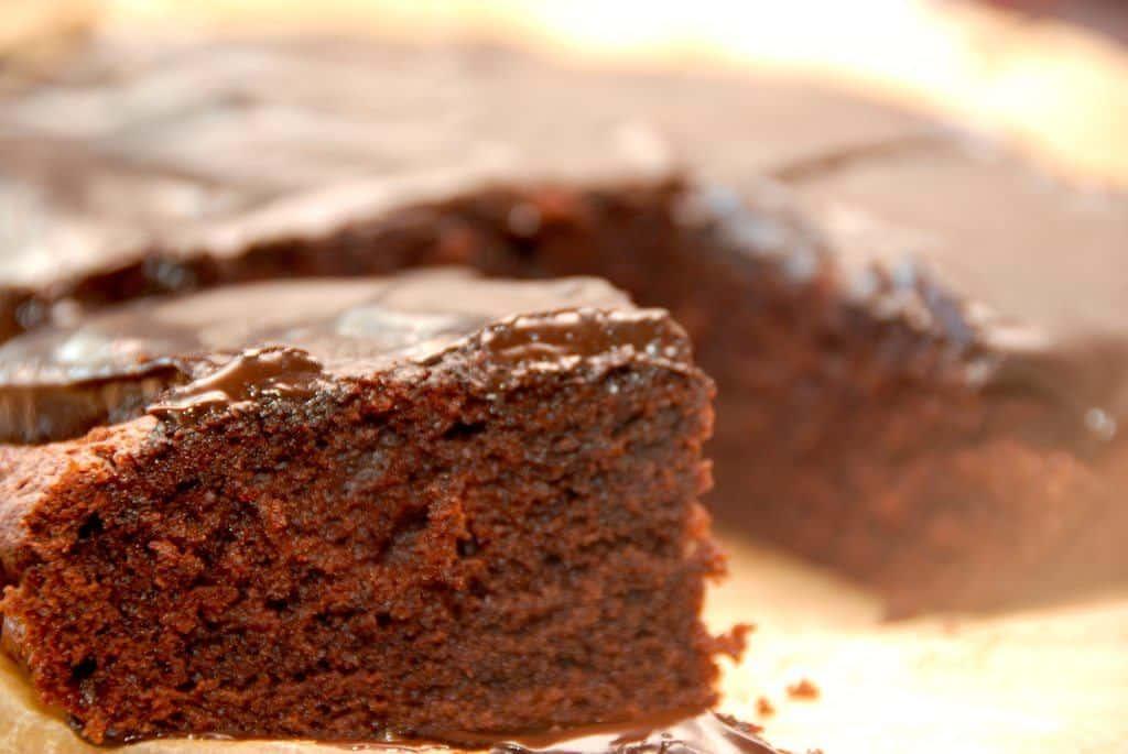 Chokoladekage med Nutella i bradepande
