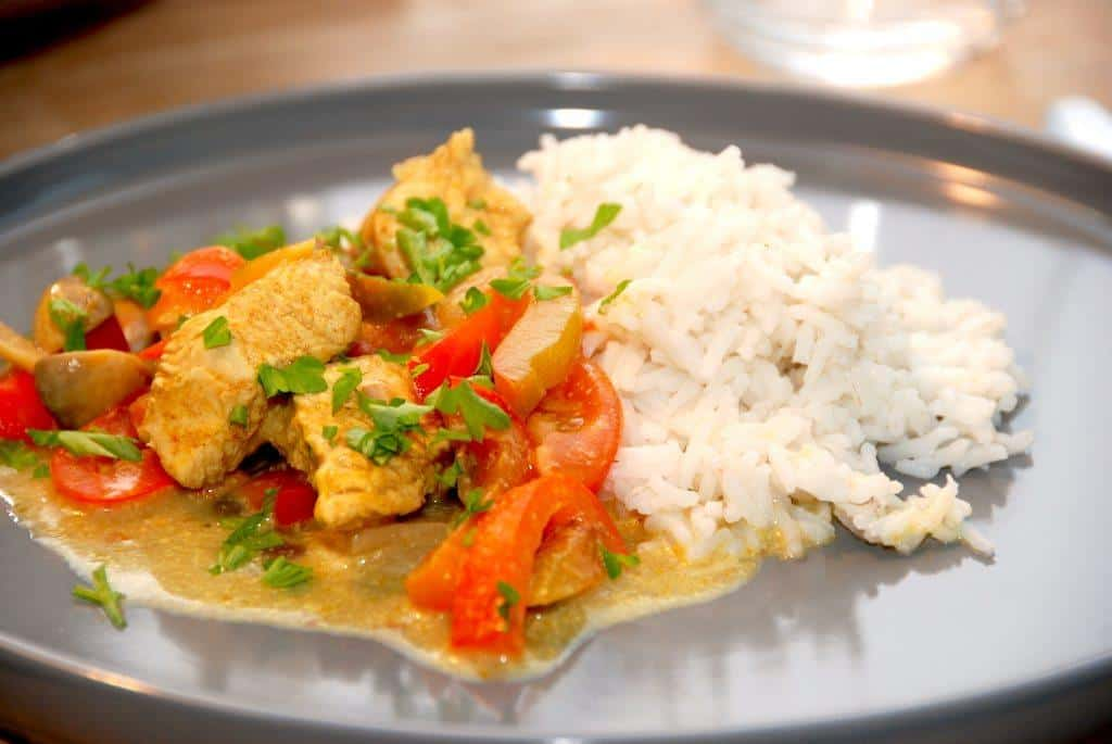 Kalkungryde med ris på 10 minutter
