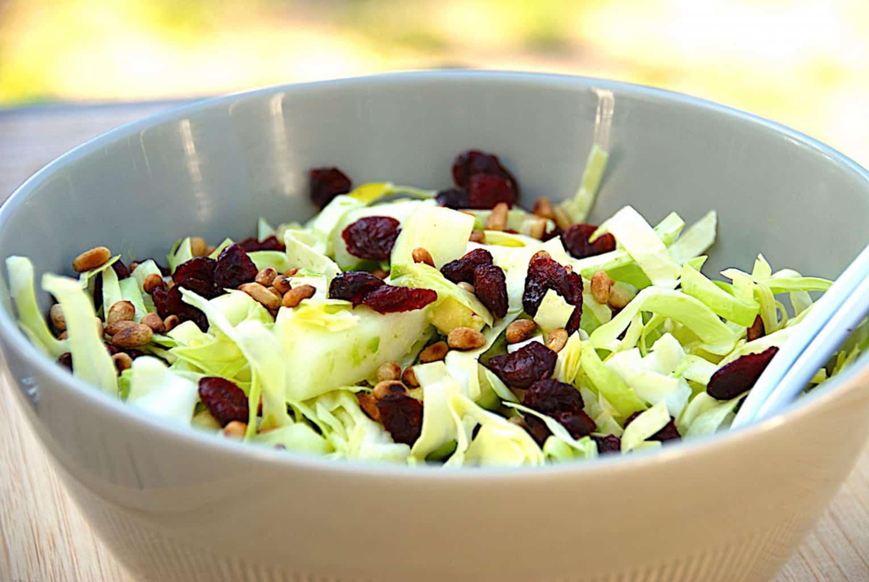 billede til salater med spidskål