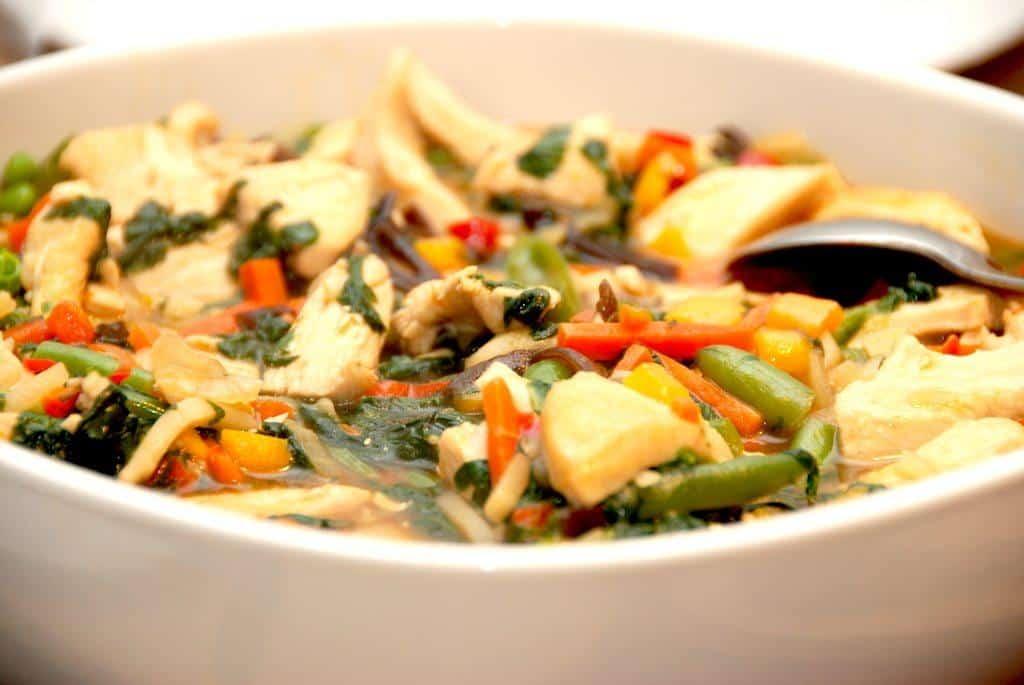 Chop suey med kylling på 10 minutter