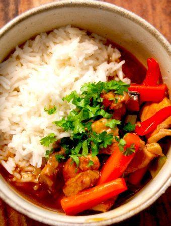 Orientalsk gryderet på 15 minutter